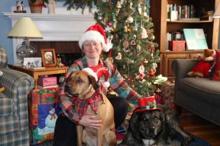Christmas 2018 me with shadow and wilma