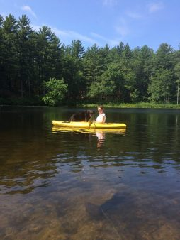 kayaking with Shadow 1