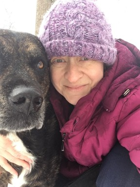 Shadow and me in the snow